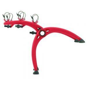 Suport biciclete Saris Bones 3 Red pentru 3 biciclete cu prindere pe haion/portbagaj