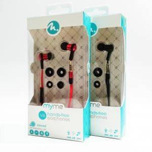 Casti audio handsfree FIFO MyMe Red cu telecomanda pe fir - sport, handsfree, telecomanda