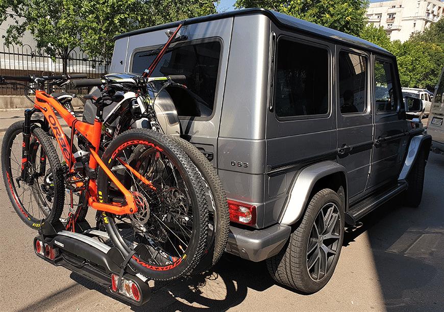 Montaj Mercedes G suport de bicicleta pe carlig Menabo Winny