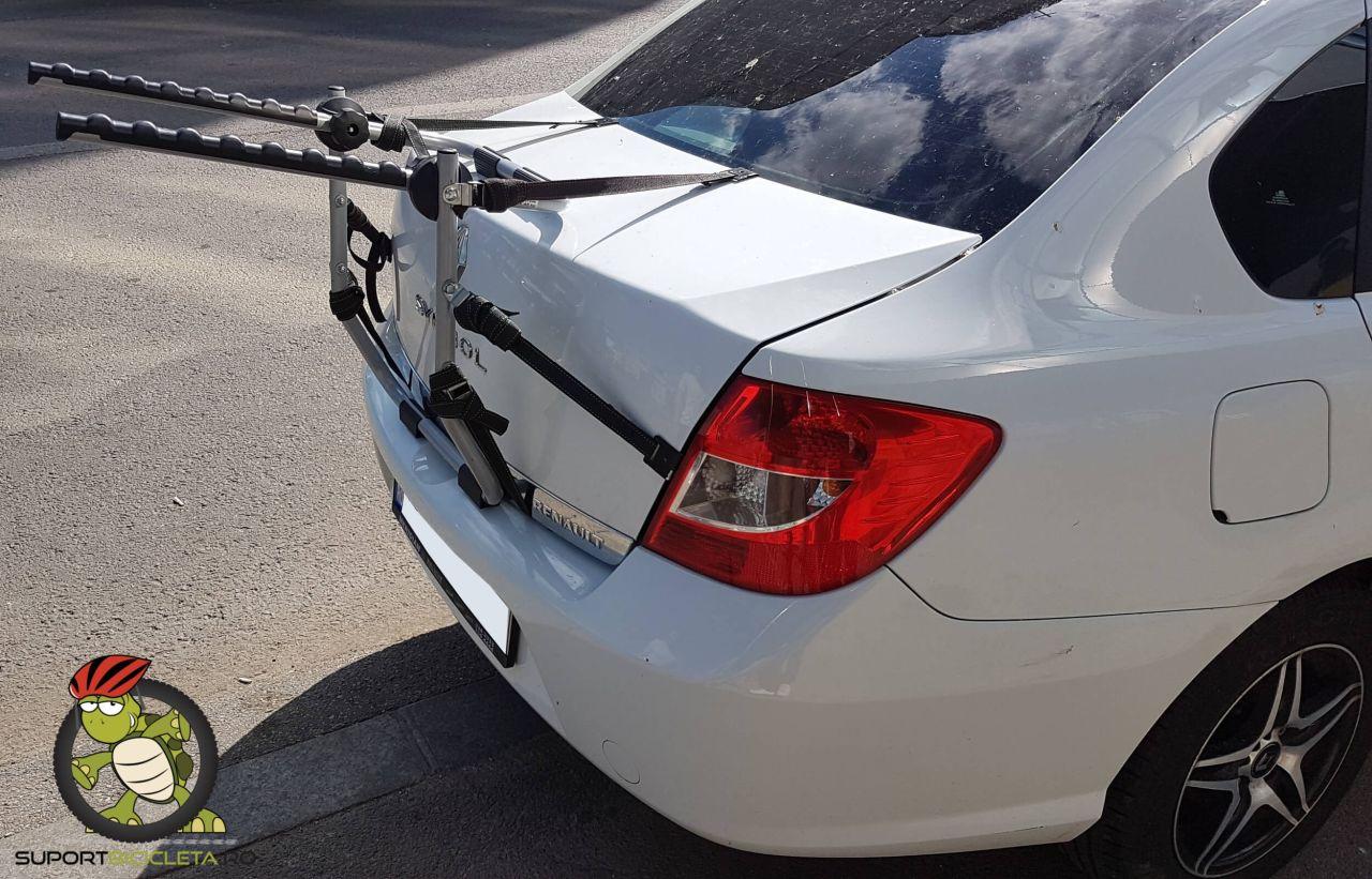 Renault Clio suport de bicicleta Menabo Biki si Menabo Mistral