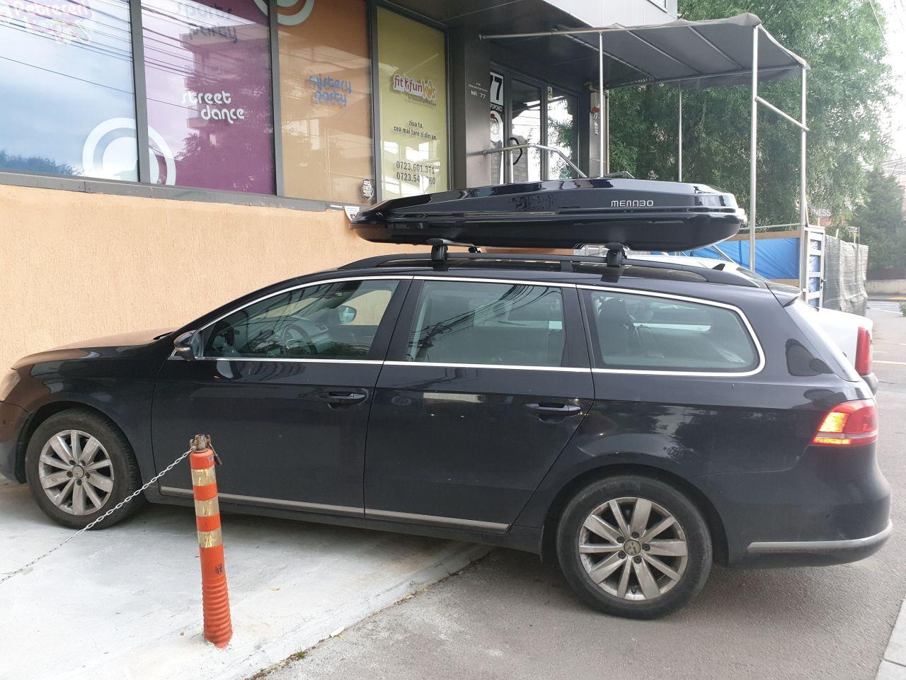 Volkswagen Passat bare transversale Menabo Sherman si cutie portbagaj Menabo Diamond