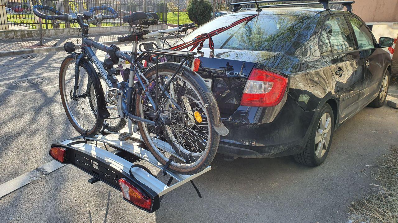 Skoda Rapid suport bicicleta Menabo Alcor 3