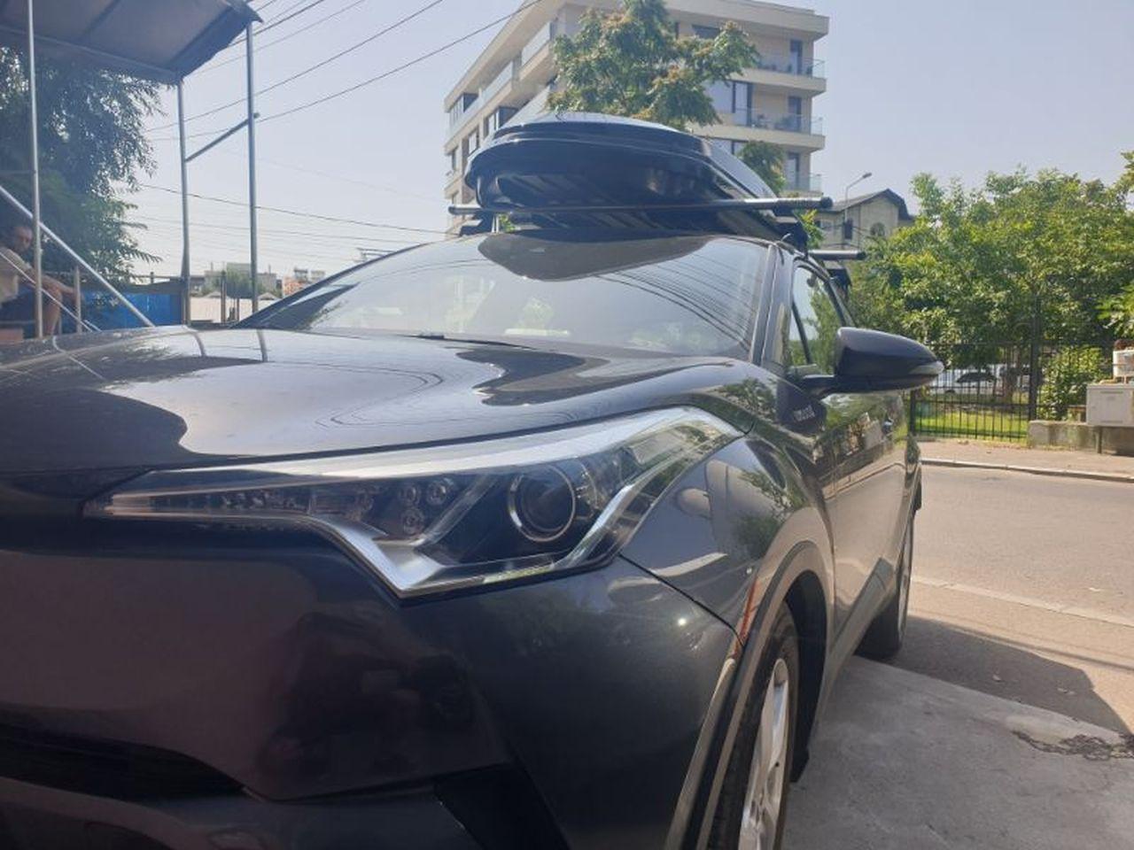 Toyota C-HR bare transversale Menabo Tema si cutie portbagaj Menabo Diamond