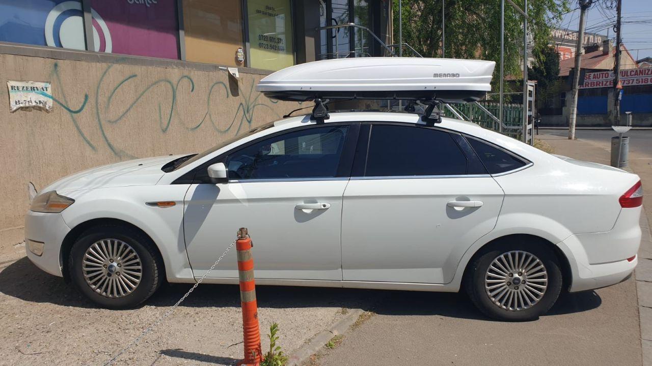 Ford Mondeo bare transversale Menabo Tema si cutie portbagaj Menabo Mania