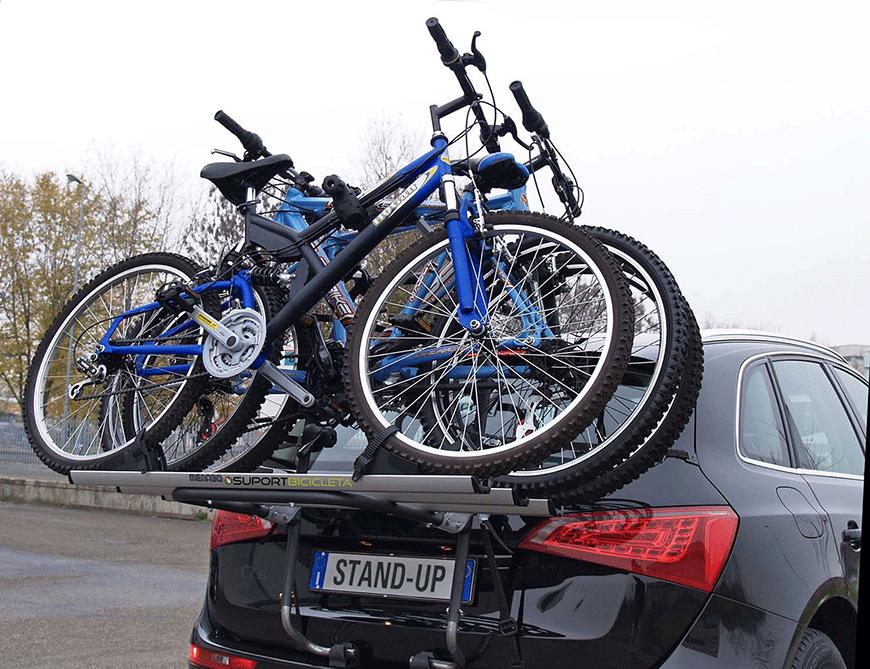 Pasi de montaj pentru suportii de bicicleta pe haion