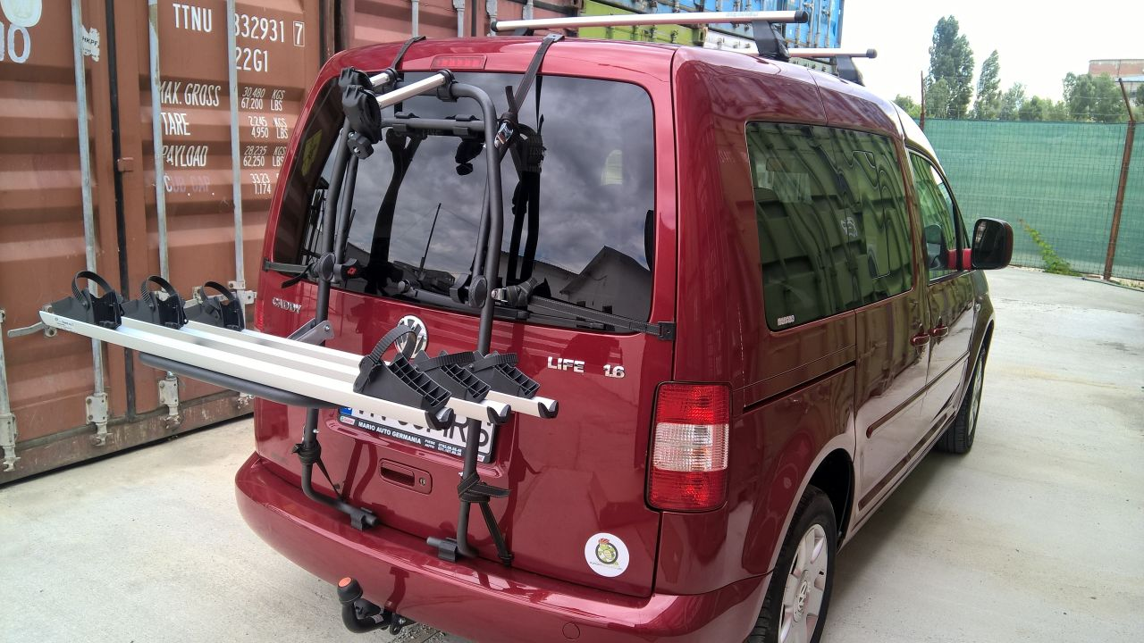 Volkswagen Caddy suport bicicleta pe haion Menabo Stand-up