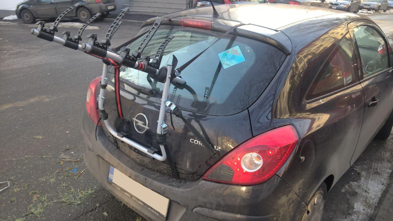 Opel Corsa suport bicicleta Menabo Mistral