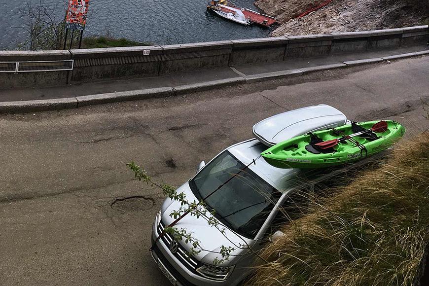 Relaxare la Vidraru cu suport de caiac-canoe, traseu parcurs de MyRoadTrip.ro