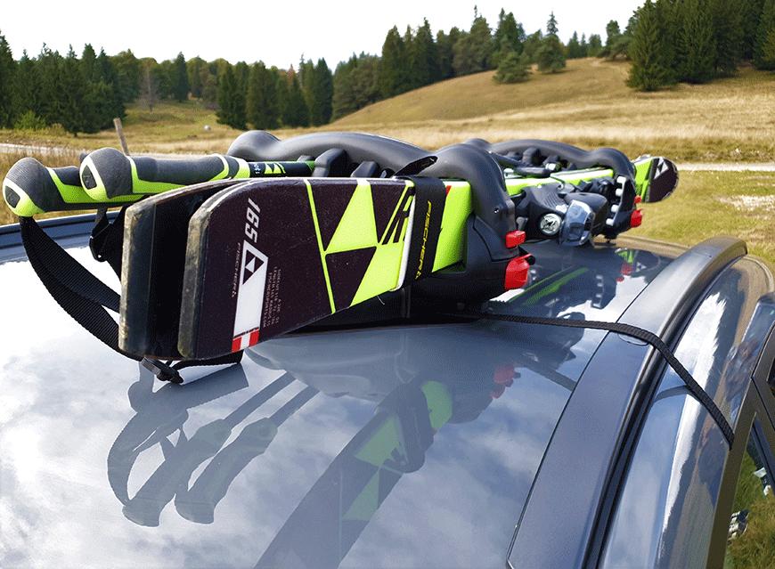 Suport schi pe bare transversale sau suport schi magnetic, ce vei alege?