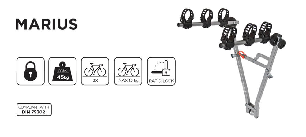 Suport bicicleta pe carlig Menabo Marius