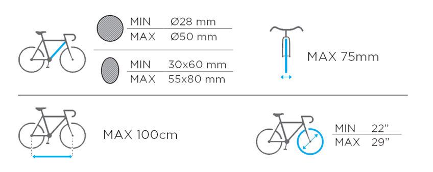Suport biciclete pe bare transversale