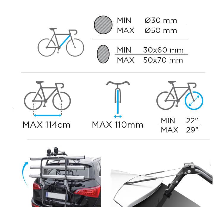 Suport biciclete pe haion