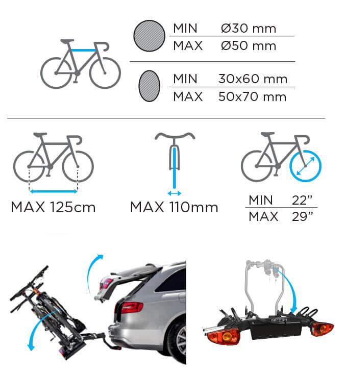 Suport biciclete pe carlig